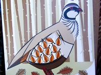 Red-Legged Partridge Greetings Card