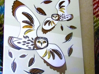 Short-eared Owl Greetings Card & Recycled Envelope