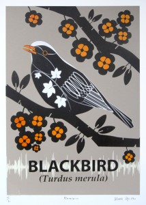 image of the blackbird screenprint