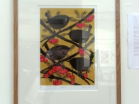 \'Wrens\' screenprint at the Foundry Gallery