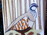 Red-Legged Partridge Greetings Card & Recycled Envelope